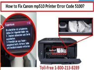 Fix Canon mp510 Printer Error Code 5100 by 1-800-213-8289
