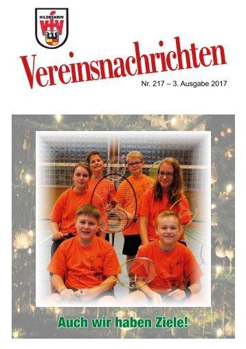 VfV Hildesheim - Vereinszeitung 3/2017