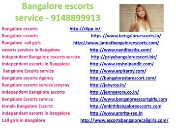 Get affordable escorts service in Bangalore - 9148899913