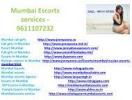 Mumbai Escorts service - 9611107232