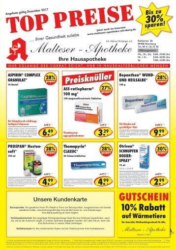 Angebote Malteser Apotheke Nürnberg im Dezember