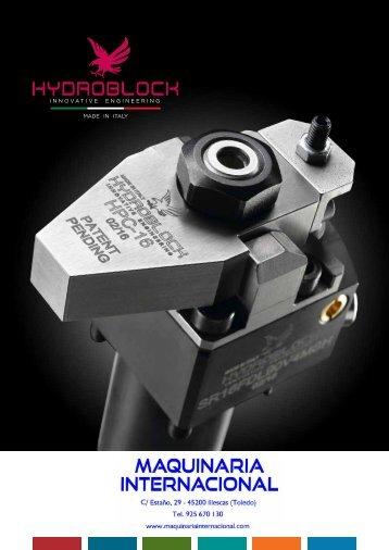CILINDROS HIDRAULICOS PARA ÚTILES DE MECANIZADO HYDROBLOCK - MAQUINARIA INTERNACIONAL