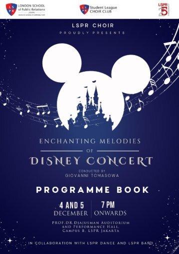 Programme Book Annual Disney Concert by LSPR Choir