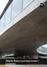 Objekt: Rolex Learning Center / Lausanne - PSS Interservice, All ...