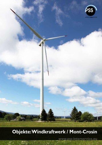 Objekte: Windkraftwerk / Mont-Crosin
