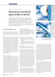 Massnahmen zum Schutz gegen Graffiti an Bauten