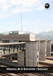 Objekte: BLS Bahnhöfe / Schweiz - PSS Interservice AG