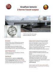 Graafisen betonin 2-kerros Faceal suojaus - PSS Interservice AG