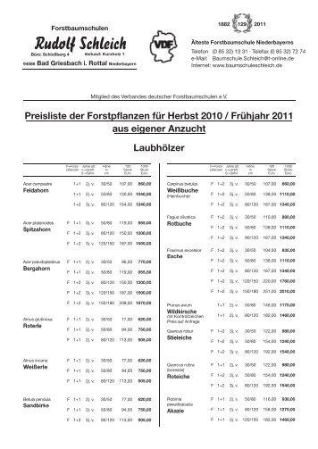 Nadelhölzer - Baumschule Schleich