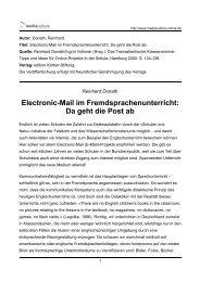 Electronic-Mail im Fremdsprachenunterricht