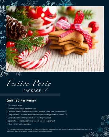 festive Packages 2017