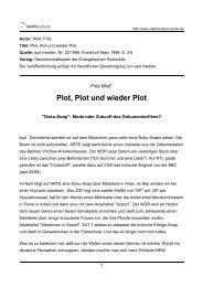 Plot, Plot und wieder Plot - Mediaculture online