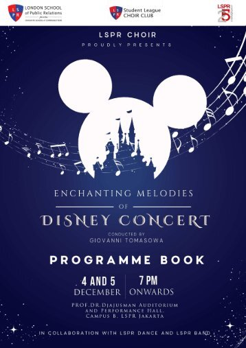 Program Book Disney Concert