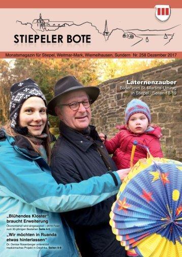 Stiepeler Bote 258 - Dezember 2017