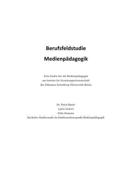 Berufsfeldstudie Medienpädagogik - Mediaculture online