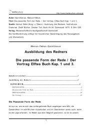 Ausbildung des Redners Die passende Form der Rede / Der Vortrag ...