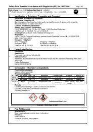 Safety Data Sheet Facela Oleo HD - PSS Interservice, All Remove