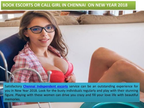 Book Hot escorts or call girl in Chennai on New Year 2018