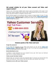 Get prompt solution for all your Yahoo account call Yahoo mail support number 1-888-664-3555