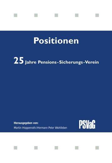 Betriebliche Altersversorgung - PSVaG