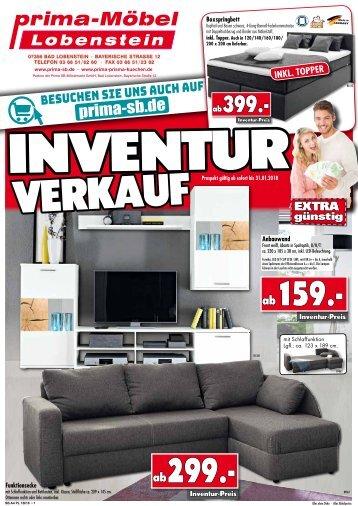 Inventur-Verkauf!! Möbel + Küchen jetzt extra günstig - bei prima-Möbel in 07356 Bad Lobenstein