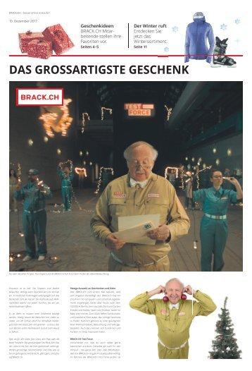 BRACK.CH Sonderbund Sonntagszeitung Dezember 2017