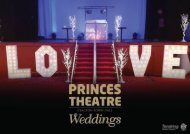 Princes Theatre - Wedding Brouchure