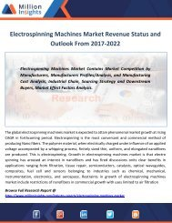 Electrospinning Machines Market Revenue Status and Outlook From 2017-2022