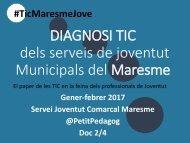 Resultats GLOBALS DIAGNOSI serveis joventut Maresme 2017