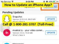 How to Update an iPhone App? 1-888-208-8522 Toll-Free