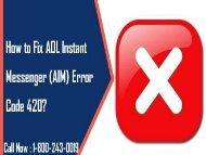 18002430019 Fix AOL Instant Messenger (AIM) Error Code 420
