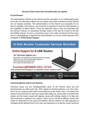 D-Link Customer Service UK