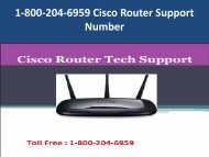 1-800-204-6959 Cisco Router Support Number