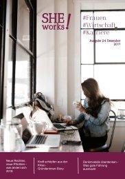 SHE works! Magazin #Frauen #Wirtschaft #Karriere - Was ändert sich 2018