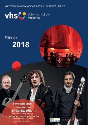Programmheft der VHS MTL Frühjahr 2018