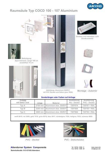 Raumsäule Typ COCD 80 - 54 Aluminium