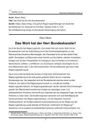 Das Wort hat der Herr Bundeskanzler! - Mediaculture online