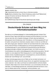Deutschlands Schulen auf dem Weg ins Informationszeitalter