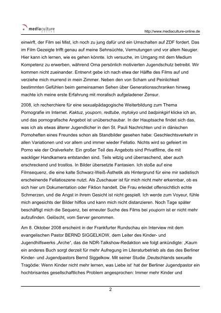 Medienkompetenz und Jugendschutz. - Mediaculture online