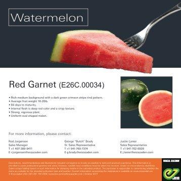 Leaflet Watermelon Red Garnet 2018