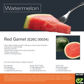 Leaflet Watermelon Red Garnet 2018