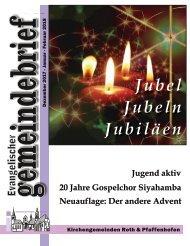 Evang.-Luth. Kirchengemeinde Roth - Gemeindebrief für Dez. 2017 bis Feb. 2018