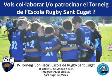 PATROCINIO Torneig Escola Rugby Sant Cugat 2018