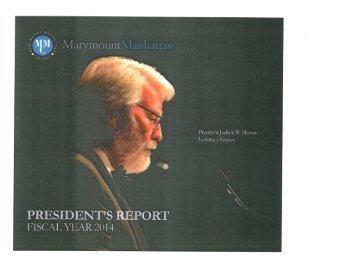 2013-14 President's Report
