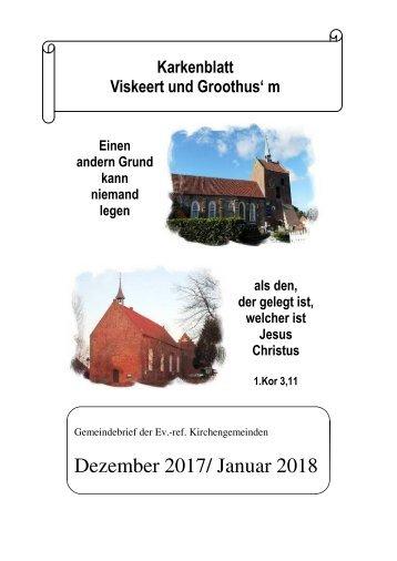 Karkenblatt dezember 2017 - Januar 2018
