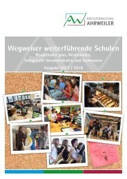 Wegweiser weiterführende Schulen - Ausgabe 2017/2018