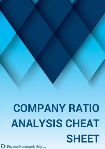 Company Ratio Analysis Cheat Sheet That Every Investor Must Have