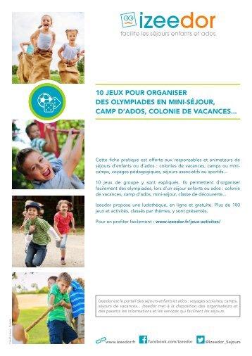 Jeux et activités pour organiser des olympiades