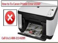 Fix Canon Printer Error U150 by dialing 18002138289