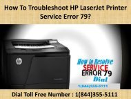 1(800)576-9647 How To Troubleshoot HP LaserJet Printer Service Error 79